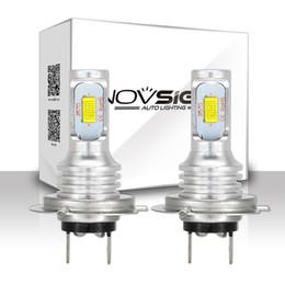 kit corolle Promotion NOVSIGHT H7 1800LM voiture LED ampoules brouillard jouer et branchez la conduite automatique des lampes de brouillard de conduite lumière blanche