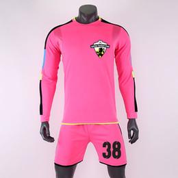 Jérsei de futebol personalizado on-line-2019 homens criança camisas de futebol camisetas camisa calções personalidade costume adulto crianças futbol uniformes de treinamento de goleiro conjunto