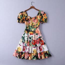 quadrat hals empire kleid Rabatt 416 2019 runway dress kostenloser versand frühling sommer dress reich kurzarm quadratischer hals runawy dress
