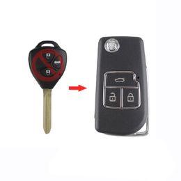 Крышка toyota rav4 онлайн-Кнопки дистанционного ключа автомобиля оболочки складной флип ключ чехол для Toyota Camry Corolla Reiz RAV4