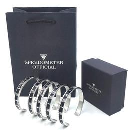 brazalete de latón africano Rebajas NUEVO reloj de lujo estilo velocímetro oficial brazalete pulsera acero inoxidable mujeres hombres brazalete brazaletes con caja de regalo bolsas envío gratis