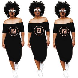 modelos abaya Desconto Champion women skirt Mid-Calf dress short sleeve strapless bodycon solid color stylish style one-piece dress fashion sexy skirt klw0811