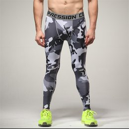 66623c6495 blue camouflage leggings 2019 - Men Camouflage Compression Pants Running  Training Fitness Leggings Gym Sport Tight