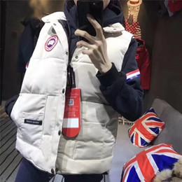 Chalecos de invierno blanco para mujer online-Envío libre de Navidad para hombre termal al aire libre chaleco chaqueta de invierno para mujer Marca diseñador 100% de pato blanco abajo chaqueta acolchada chaqueta de invierno frío