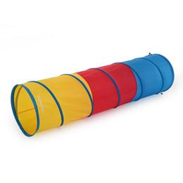 всплывающие игровые площадки Скидка TOMSHOO игрушки Складная палатка 6.0 Feet Tunnel Дети Дети играют Палатка Открытый Сад Складной Pop Up Детские Открытый кемпинга