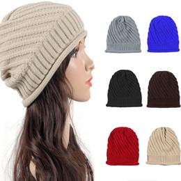 439bbec4842 Hotsale Fashion Womens Knitted Skullies Beanies Hats Baggy Fur Ball Beanie  Hat Casual Winter Warm Couple Wool Lady Outwear Caps