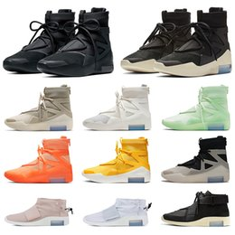 tirer des chaussures Promotion NIKE AIR FEAR OF GOD 1 des chaussures de course Taille US 12 Hommes Femmes Sneakers Frosted Spruce Shoot SA Raid Bottes Baskets Eur 46