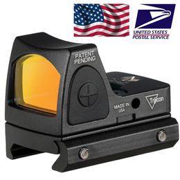 Punto rojo vista para la caza online-Trijicon RMR Red Dot Sight colimador / Reflex vista del alcance 20mm ajuste del carril del tejedor para Airsoft / fusil de caza