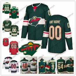 Troisième maillot personnalisé vert sauvage du Minnesota N'importe quel numéro Nom Hommes Femmes Enfant Enfant Rouge Blanc ? partir de fabricateur