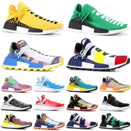 zapatillas reales Rebajas adidas yeezy 2019 NMD Pharrell Williams Sample Yellow Human Race Zapatillas de running para hombre con caja BBC Peace Black Sport Designer Shoes Mujer Zapatillas 36-47