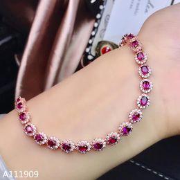 suportes de tv Desconto KJJEAXCMY boutique de jóias 925 pulseira de prata incrustada fina detecção de apoio das mulheres naturais granada