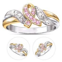 nastro geometrico Sconti Anelli d'argento della lettera del nastro del cancro delle donne dell'oro d'argento Zircone alla moda Infinity Gauntlet Geometric Engagement Jewelry Gift