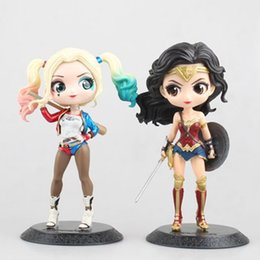 Anime gioca le donne online-Wonder Woman Harley Quinn Cute Model Doll 15cm PVC New Figurine Toys Collection Anime Action Figure per il regalo di Natale LZ039