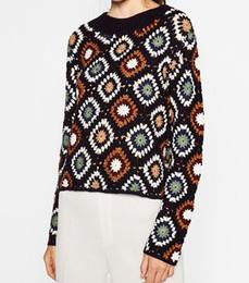 Handgefertigte pullover online-CROCHETED Sweater Frauen Floral Plus Size Pullover Handmade Damen Winterkleidung Marke Pullover Strickpullover LIMITED EDITION