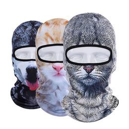 mascara de entrenamiento para Rebajas 3D Animal Party Cap Hat Cara Completa Máscara Protectora Gorra de Entrenamiento al Aire Libre Esquí Ciclismo Bicicleta Montar Máscara Pasamontañas