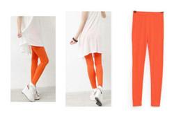 Pantalons de femme nouveau mode en Ligne-Nouvelle couleur bonbon chaude coton modal neuf pantalons leggings femmes sexy collants femmes Leggings Vêtements Modal