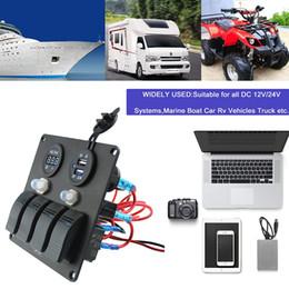 12v usb mount Скидка 4-контактная 3-контактная панель с тумблером с автоматическим выключателем и разъемом для подключения зарядного устройства Dual 3.1A USB и монтажные комплекты для морских катеров Car Ve