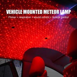 Estrela decorativa da luz de natal on-line-USB LED Car Atmosfera Ambiente Estrela Luz DJ RGB Música Colorida Som Lâmpada de Natal Interior Decorativo Luz Auto Acessórios