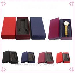 Ems relógio livre on-line-Grátis Ems 100 peças de Papel Colorido Pulseira Caixa de Relógio de Embalagem Case Watch Titular de Jóias Embalagem Caixa de Presente para Organizador