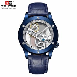 automatic hollow men watch Promo Codes - Tevise 2019 New Listing Men Mechanical Watch Automatic Fashion Personality Hollow Watches Clock Relogio Masculino for Gift