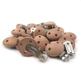 clips de madera diy Rebajas Accesorios de enfermería Clip de chupete de madera Clips de Chupete de Haya Dentición Masticable Bricolaje Cadenas de Clip Dummy Bebé Teether