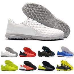 Tiempo Legend FG Uomo Scarpe da calcio Hyper Blu Tripla Calcio Bianco tacchetti Man Outdoor Training scarpe da calcio zapatos Size 39 45