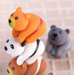 2019 artigianato della bambola diy Ornamenti bambola a forma di orso fai da te Carino fatto a mano arti e mestieri in PVC per torta Figurine in miniatura decorazione novità articoli CCA10947 200 pezzi artigianato della bambola diy economici