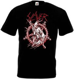 Poster in metallo nero online-Slayer - poster v2 T shirt black trash heavy metal tutte le taglie S-5XL