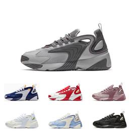 2019 moda scarpe nuovo modello Nuovo arrivo Zoom 2K Grigio Bianco-Nero blu triplo nero Uomo Scarpe sportive stile M2k Tekno modello Moda Uomo Designer Sneakers taglia 36-45 moda scarpe nuovo modello economici