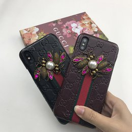 phone mate Promo Codes - For iphone X phone case 7 7plus PU Leather cover For iPhone XS XR MAX 8 8plus brand Designer Phone Case Drop shipping