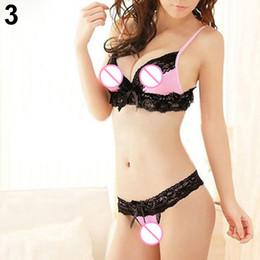 Roupa interior sexy da menina japonesa on-line-Meninas japonesas Sweet Babydoll Tangas G-string Lingerie Biquíni Sexy Underwear Bra Set Varejo / Atacado 6DRA