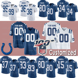 short colt Promo Codes - Indianapolis Custom Colts Jersey 27 D'Onta Foreman 56 QUENTON NELSON 85 ERIC EBRON 15 PARRIS CAMPBELL 4 ADAM VINATIERI Kenny Moore ll