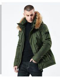 2019 boné de sopro preto Mens Designer de Moda Para Baixo Solto Engrossado Juventude Tamanho Grande Com Capuz Outerwear Inverno Estilo Quente Roupas Masculinas