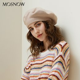 8e03bc47a2d75 Drop Shipping Beret Female Wool Knitted Hats 2018 New Brand Stylish Winter  Warm Beanie Women Painter Bonnet Hats For Girl Berets S18120302