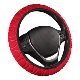 emblème d'octavie Promotion Couverture de volant de voiture Poignée de roue tressée Glace en soie Ensemble Éponge Protecteur de voiture Anneau intérieur universel Couvercle de direction