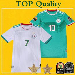 Maglia calcio Algeria 2 Etoiles 2019 Home MAHREZ BOUNEDJAH FEGHOULI SLIMANI BRAHIMI Maillot De Foot algerie 19 20 Calcio di alta qualità cheap xxl jerseys da maglie xxl fornitori