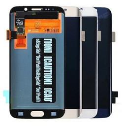 2019 galaxy s6 lcd blanco Pantalla táctil original del digitizador de la pantalla LCD para Samsung Galaxy S6 Edge G925 DHL gratis Negro / blanco / oro / azul galaxy s6 lcd blanco baratos