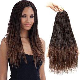 Горячей! Сенегальский твист вязание крючком косички для волос маленький Гавана Мамбо твист вязание крючком плетение волос сенегальский твист прически для чернокожих женщин от
