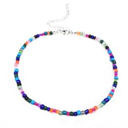 Collier court bohème Choker à la main mode sauvage couleur perles de riz collier Europe et les États-Unis New Money Accessoires ? partir de fabricateur