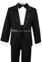 Canada Costume garçon costume fait sur commande double boutonnage Kid costume mariage / bal / dîner / loisirs / spectacle costume pour enfants (veste + pantalon + chemise + cravate) M1316 Offre