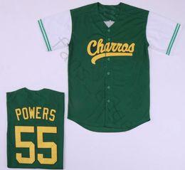 Jersey de mexico al por mayor online-venta al por mayor Hombres Kenny Powers Eastros y abajo Charros de béisbol de México Jersey verde blanco negro cosidos jerseys envío rápido gratis