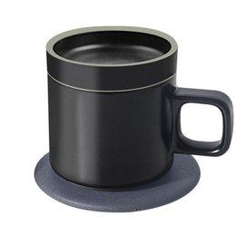 enchufe uk principal Rebajas 55 ° C Cerámica Aislamiento Taza de café Inteligente Qi rápido, inalámbrico Carga rápida Calefacción eléctrica Taza de café Tazas