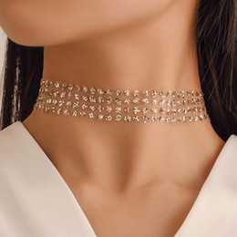 metal choker sexy Coupons - Sexy Wide Metal Collar Choker Necklaces For Women Shiny Sequins Gauze Mesh Chocker Necklace Statement Nightclub Jewelry