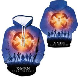 Costumi fenix x uomini online-X-Men: Dark Phoenix Jean Costume Cosplay Phoenix con cappuccio Stampa 3D harajuku Felpe uomo e donna con cappuccio streetwear