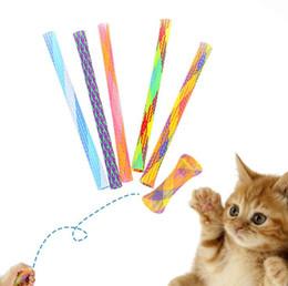 Varinha do teaser do gato on-line-Retrátil Gato Teaser Gato Engraçado Vara Brinquedo Do Gato Gatos Teaser Wand Gatinho Colorido Tubos de Mola Ação de Graças Interativo Brinquedos Fidget Brinquedos