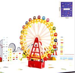 Impression de couleurs carte de décoration cadeau pour enfants 3D grande roue créative pour enfants stéréo stéréo bénédiction souhaitant carte de voeux carte de vœux ? partir de fabricateur