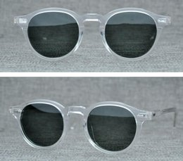 Europas sonnenbrillen marken online-Mode-Marken-Mann-Frauen-Sonnenbrille Retro- runde Sonnenbrille Männer European Style Sonnenbrillen für Frauen Lemtosh Sun-Gläser mit Original Case