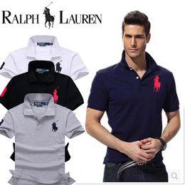 Недорогие мужские поло онлайн-Quick Dry Polos Slim Fit Polo Shirt мужчины твердые дышащий мода мужская Poloshirt с коротким рукавом бренды дешевые Camisa Masculina