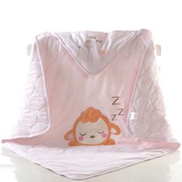 Manta de marca online-2019 Brand New Newborn Kids Baby Warm Cotton Swaddling Blanket Sleeping Bags Swaddles Warp Cotton Warm Cartoon Sacos de dormir