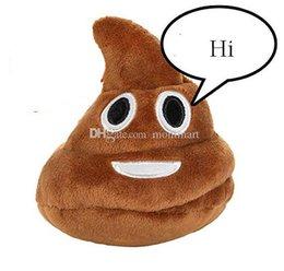 cosplay naruto zeichen Rabatt Poop Emoji Plüschtier 25 * 28cm Kinderspielzeug Stofftiere AB
